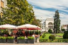Vista del centro del centro storico della città di Timisoara Fotografie Stock Libere da Diritti