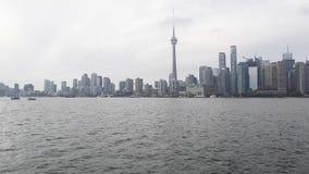 Vista del centro del lago toronto video d archivio