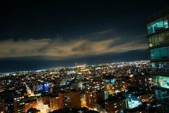 Vista del centro dell'orizzonte del ¡ di BogotÃ, Colombia fotografia stock