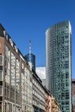 Vista del centro della via a Francoforte Fotografie Stock Libere da Diritti