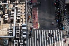 Vista del centro della via del Metropolitan dalla cima Fotografia Stock Libera da Diritti