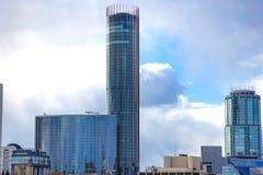 Vista del centro di affari della città Immagine Stock