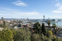 Vista del centro di Barcellona. La Spagna Fotografia Stock Libera da Diritti