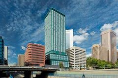 Vista del centro di Calgary Immagini Stock