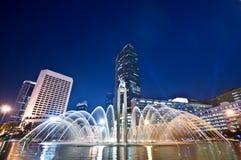 Jakarta alla notte Fotografia Stock