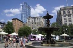 Vista del centro di estate dei terreni comunali di Boston fotografie stock libere da diritti