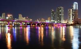 Vista del centro di Miami Fotografia Stock Libera da Diritti