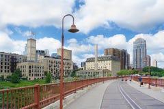 Vista del centro di MN di Minneapolis Immagini Stock