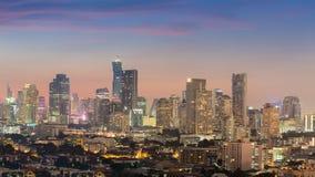 Vista del centro di panorama dell'orizzonte della città Fotografie Stock