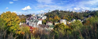 Vista del centro histórico, colinas Imagenes de archivo