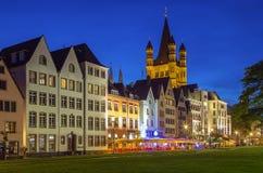 Vista del centro histórico de Colonia, Alemania fotos de archivo libres de regalías