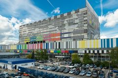 Vista del centro tecnico Ostankino della televisione Immagini Stock Libere da Diritti