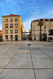 Vista del centro urbano della spaccatura, Croazia Fotografia Stock Libera da Diritti