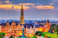 Vista del centro urbano di Bruxelles fotografia stock libera da diritti