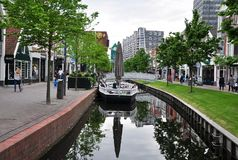 Vista del centro urbano di Zaandam, Zaadam, Paesi Bassi Fotografia Stock Libera da Diritti