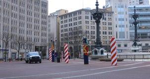 Vista del cerchio del monumento a Indianapolis, Indiana 4K video d archivio
