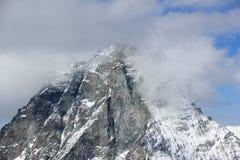Vista del Cervino dalla stazione della sommità di Klein il Cervino Alpi svizzere, Valais, Svizzera Fotografie Stock
