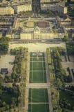 Vista del Champ de Mars a Parigi Immagini Stock Libere da Diritti