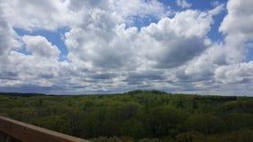 Vista del cielo Immagini Stock