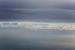 Vista del cielo da airplan Fotografia Stock Libera da Diritti