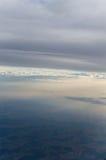 Vista del cielo da airplan Immagini Stock Libere da Diritti