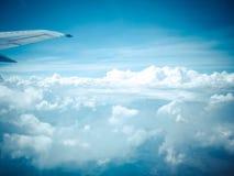 Vista del cielo dall'aeroplano Immagini Stock Libere da Diritti