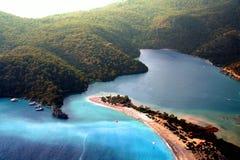 Vista del cielo del paradiso dell'isola Fotografie Stock