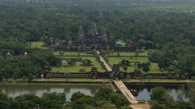 Vista del cielo di Angkor Wat in Cambogia Fotografie Stock