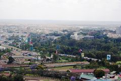 Vista del cielo di Nairobi Immagine Stock