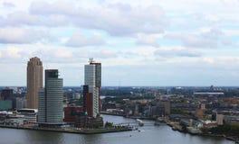 Vista del cielo di Rotterdam Immagine Stock