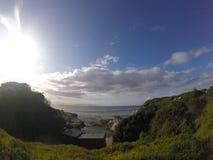Vista del cielo e del mare dal Sudafrica Fotografia Stock Libera da Diritti