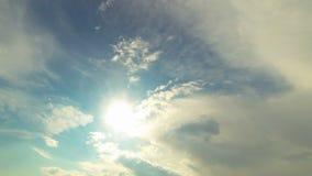 Vista del cielo y de las nubes metrajes
