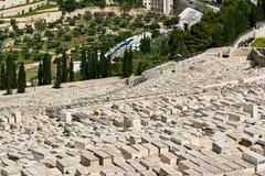 Vista del cimitero del monte degli Ulivi Immagine Stock Libera da Diritti