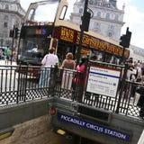 Vista del circo de Piccadilly, 2010 Foto de archivo