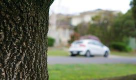 Vista del coche borroso como coche ideal foto de archivo