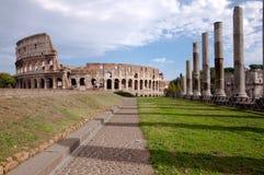 Vista del Colosseo dal tempiale del Venus - Roma - Italia Fotografia Stock