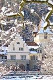 Vista del complesso del castello di Peles, Sinaia, Romania Fotografia Stock Libera da Diritti