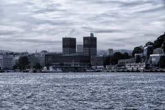 Vista del comune a Oslo fotografie stock libere da diritti