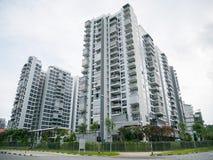Vista del condominio residencial imagen de archivo libre de regalías