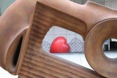 Vista del corazón fotos de archivo