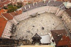 Vista del cortile del castello di Praga Fotografie Stock
