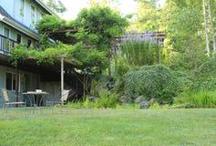 Vista del cortile dell'azienda agricola Fotografie Stock Libere da Diritti
