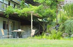 Vista del cortile dell'azienda agricola Fotografia Stock