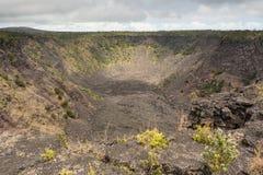 Vista del cráter de Puhimau Imágenes de archivo libres de regalías