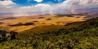 Vista del cratere di Ngorongoro in Tanzania Fotografia Stock