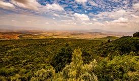 Vista del cratere di Ngorongoro in Tanzania Fotografia Stock Libera da Diritti