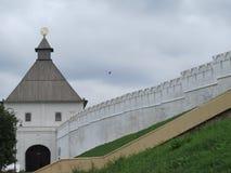 Vista del Cremlino Kazan, Russia di Kazan fotografia stock libera da diritti