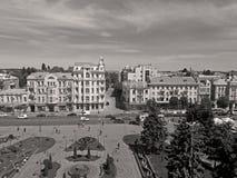 Vista del cuadrado de Soborna, Vinnytsia, Ucrania imagenes de archivo