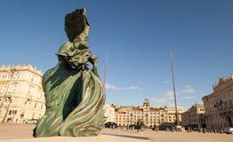 Vista del cuadrado de Trieste Fotografía de archivo libre de regalías