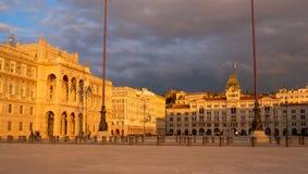 Vista del cuadrado de Trieste Imagen de archivo libre de regalías